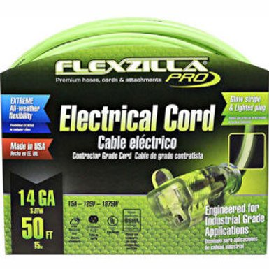 Flexzilla Pro 50′ Extension Cord, 14/3 AWG