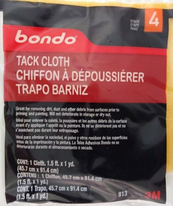 BONDO Tack Cloth, 48pack