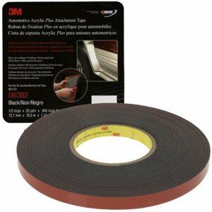 3M Attachment Tape, 1/2″ x 60′ Black
