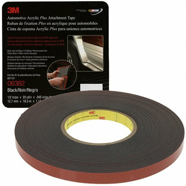 3M Attachment Tape, 1/2″ x 60′ Black