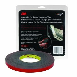 3M Attachment Tape, 1/2″ X 5′ Black