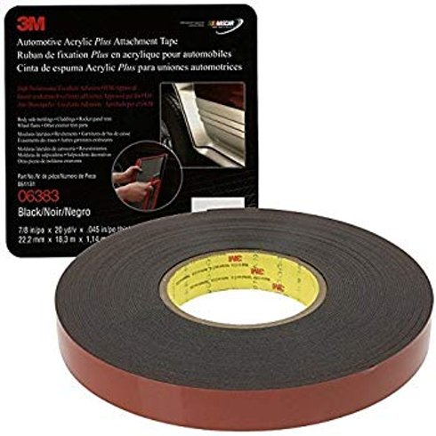 3M Attachment Tape, 7/8″ X 60′ Black