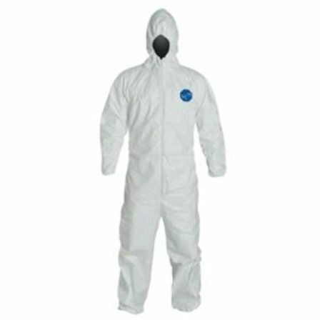 DUPONT™ Tyvek® 400 Coveralls with Attached Hood, Size Large
